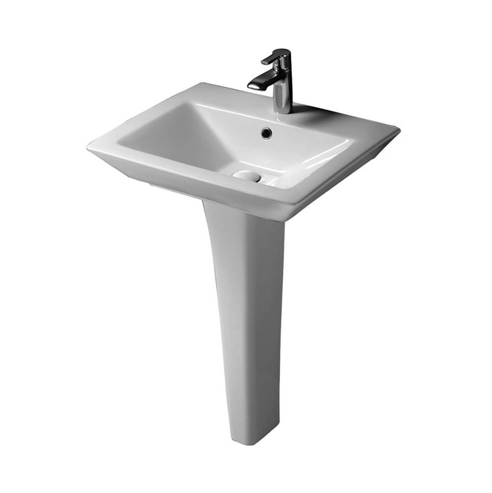Barclay Complete Pedestal Bathroom Sinks item B/3-361WH