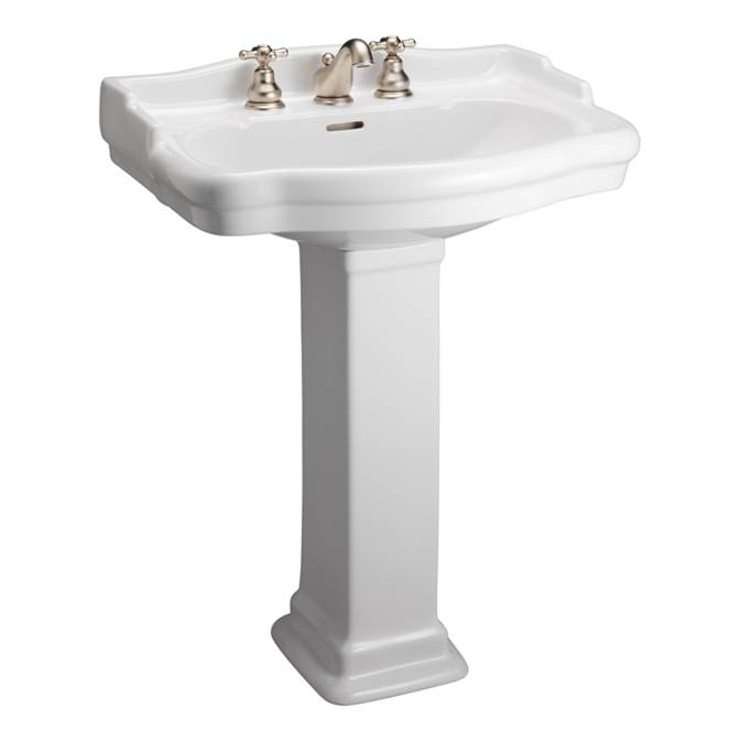 Barclay Pedestal Only Pedestal Bathroom Sinks item C/3-840WH