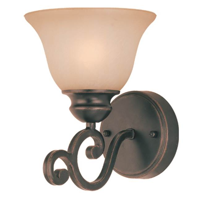Craftmade One Light Vanity Bathroom Lights item 23001-RW