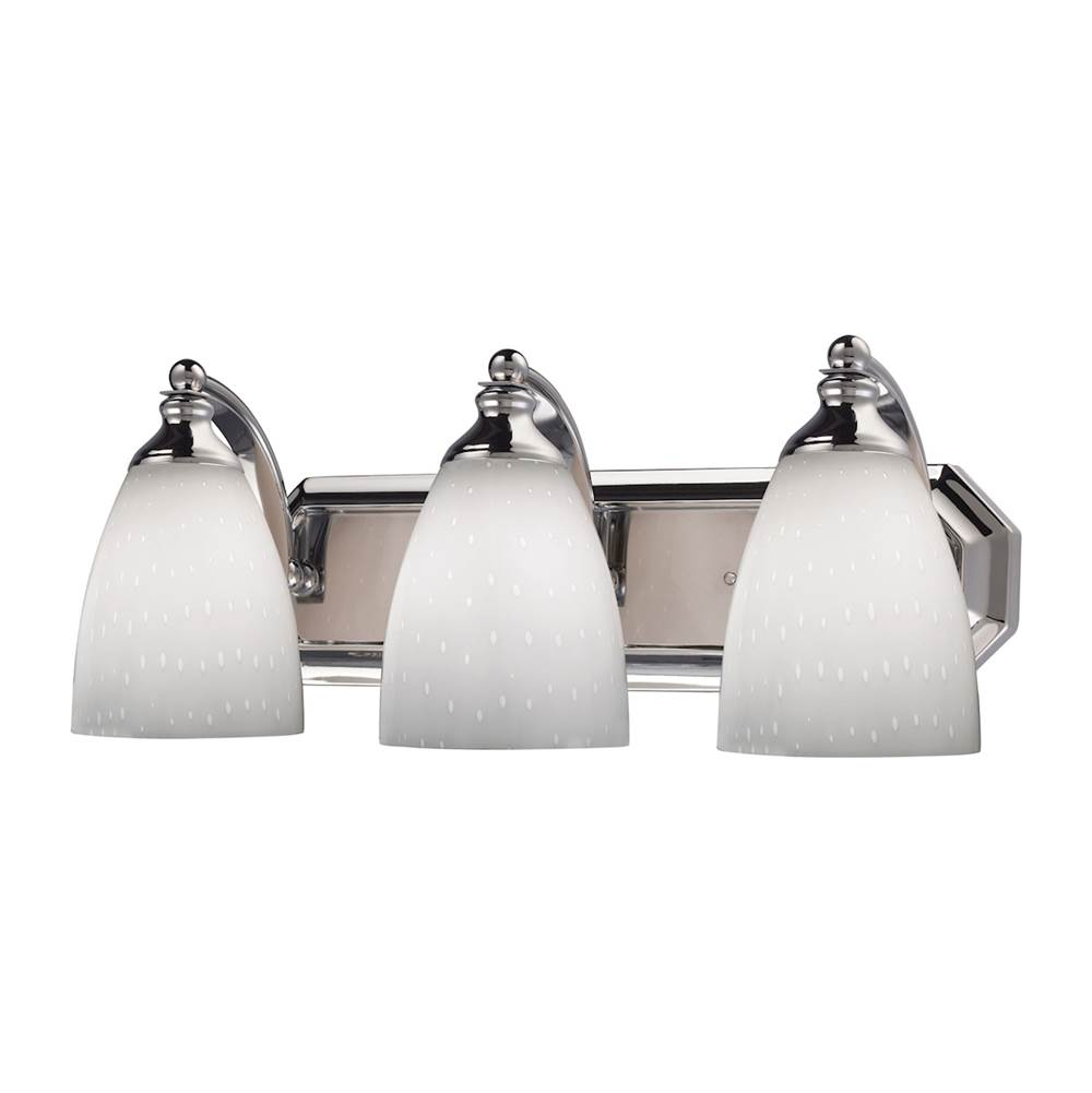 Elk Lighting Three Light Vanity Bathroom Lights item 570-3C-WH