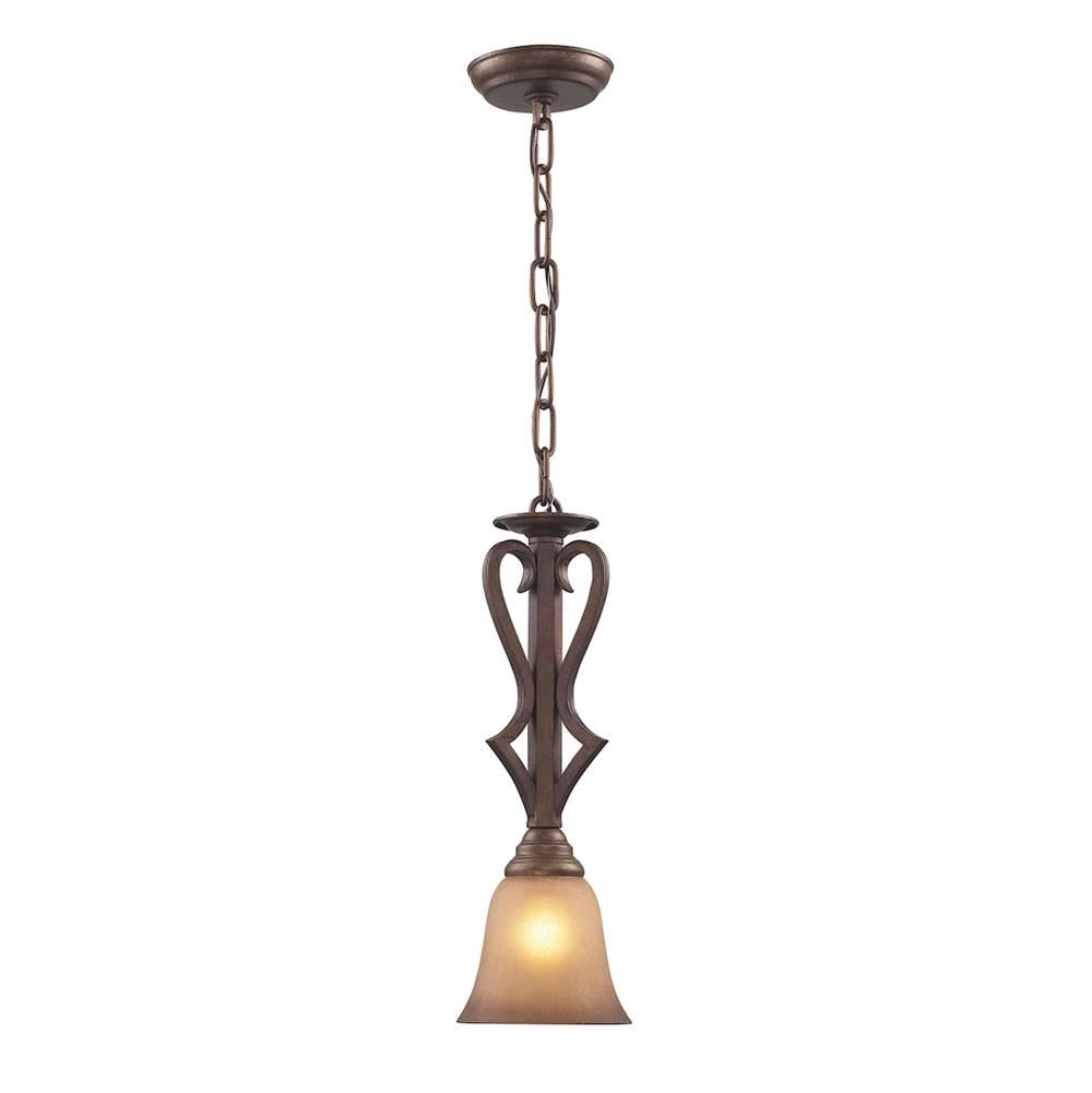 Elk lighting 93251 at greathouse fixtures plumbing showroom serving elk lighting 93251 lawrenceville 1 light pendant in mocha with antique amber glass aloadofball Images