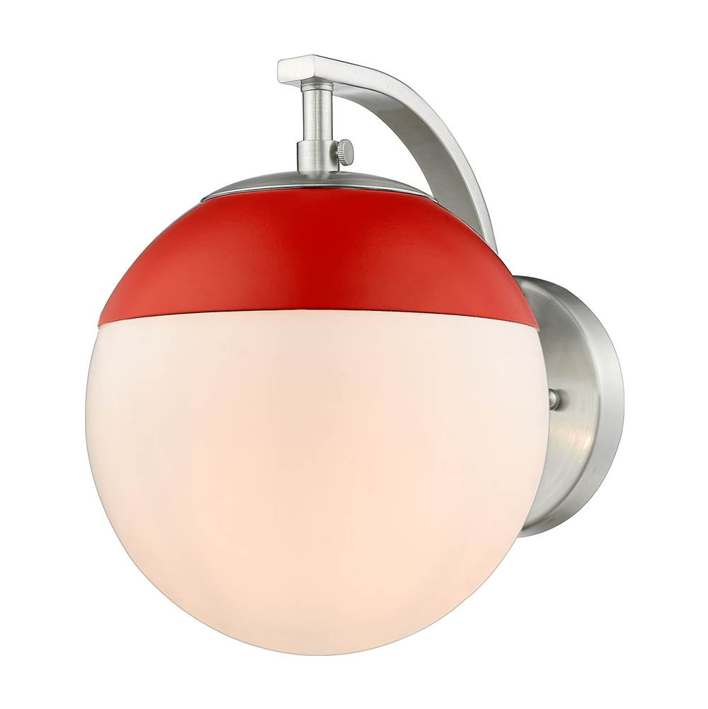 Golden Lighting Sconce Wall Lights item 3218-1W PW-RED