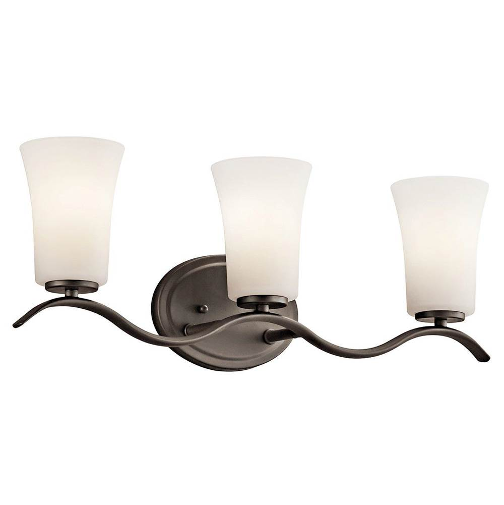 Kichler Lighting Three Light Vanity Bathroom Lights item 45376OZL18