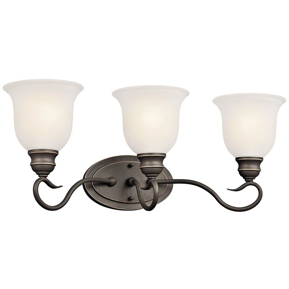Kichler Lighting Three Light Vanity Bathroom Lights item 45903OZL18