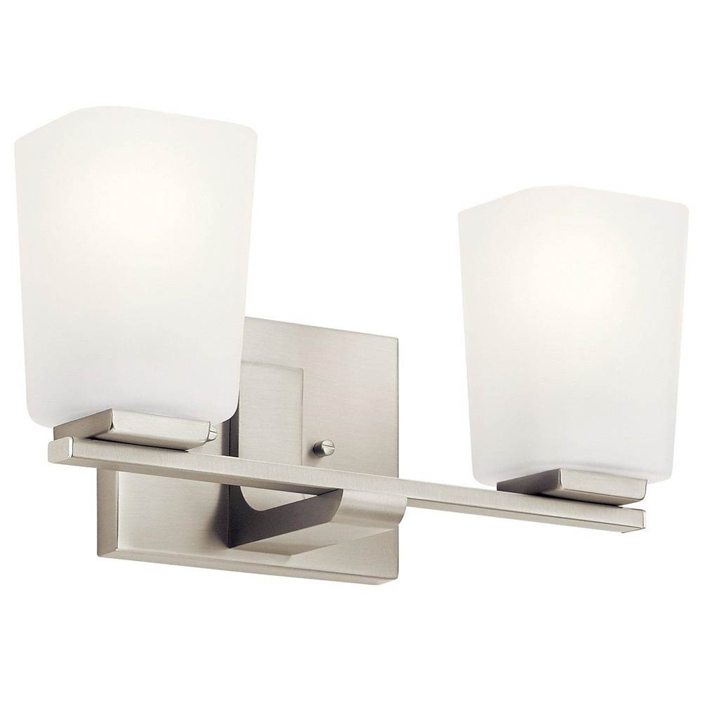 Kichler Lighting Two Light Vanity Bathroom Lights item 55016NI