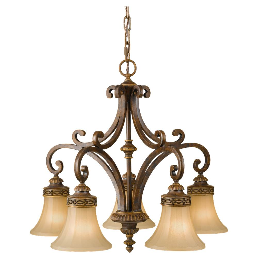 Feiss Lighting Down Chandeliers Chandeliers item F2397/5WAL